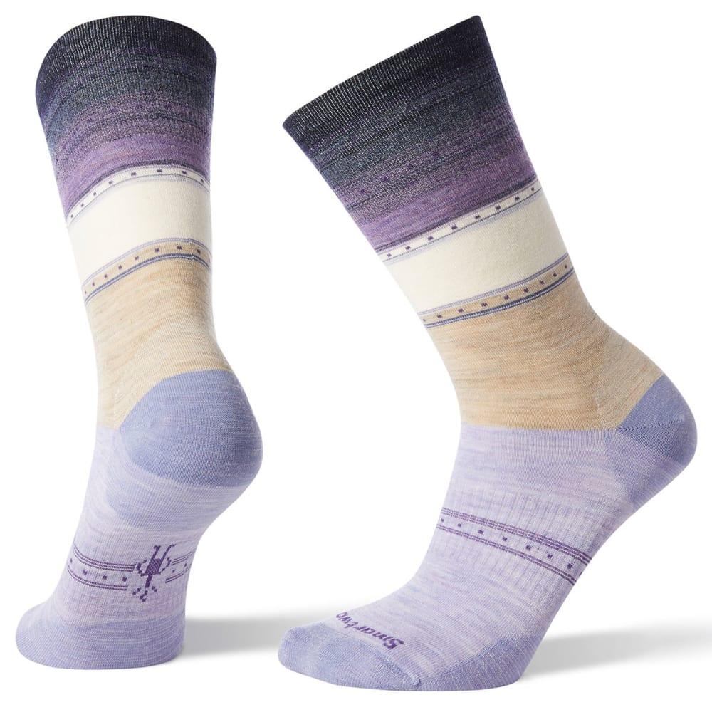 SMARTWOOL Women's Sulawesi Stripe Socks - 241-OATMEAL