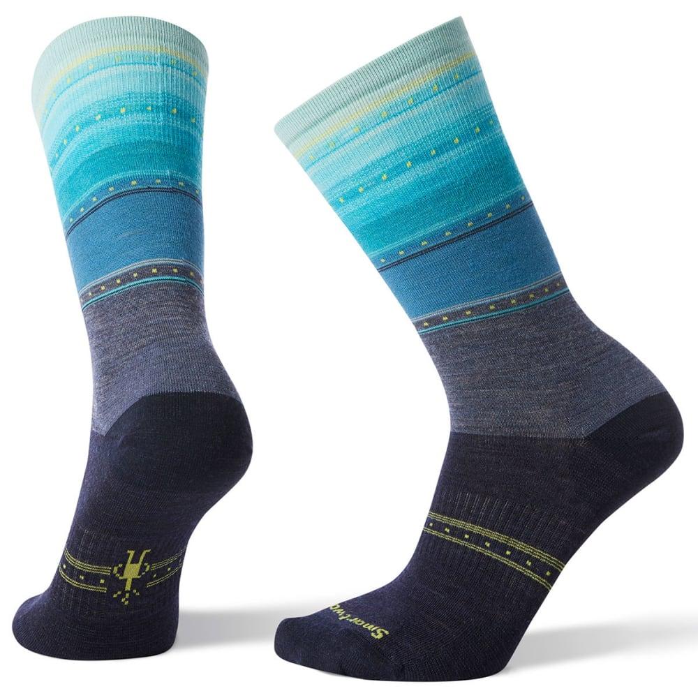 SMARTWOOL Women's Sulawesi Stripe Socks - 292-DARK BLUE STEEL