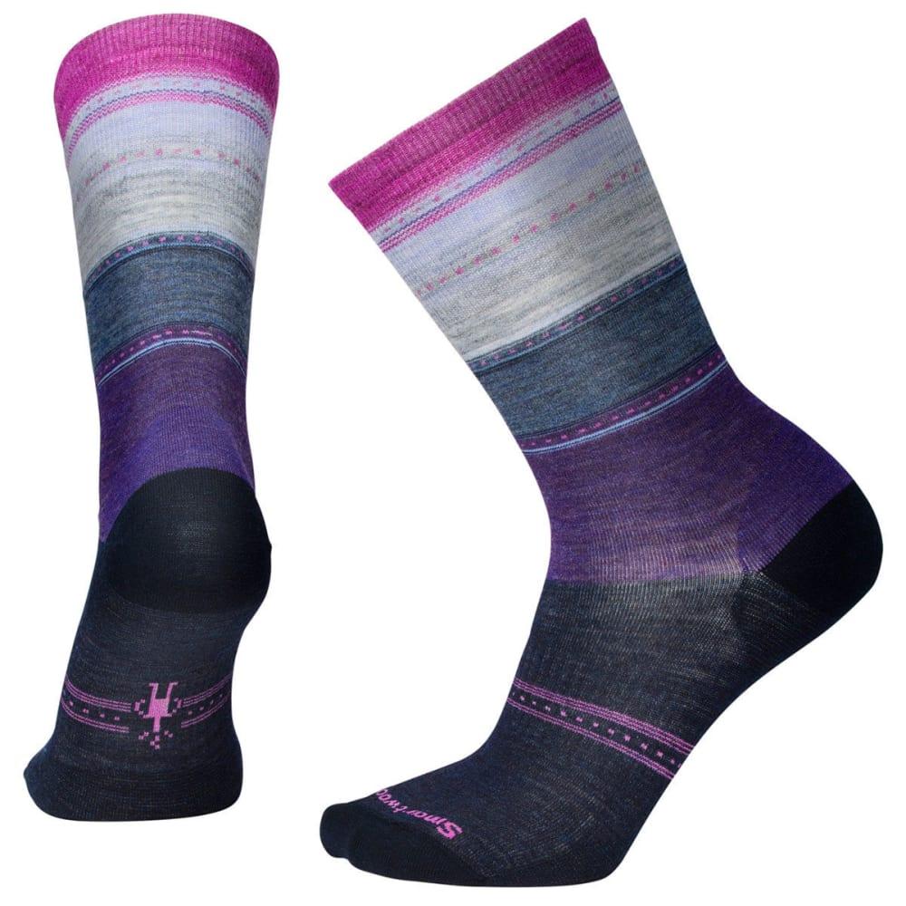 SMARTWOOL Women's Sulawesi Stripe Socks - 108-DEEP NAVY HEATHE