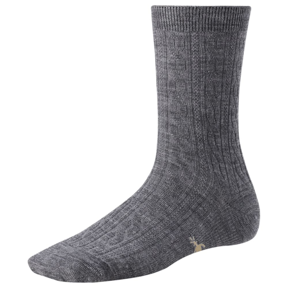 SMARTWOOL Women's Cable II Crew Socks - GREY 052