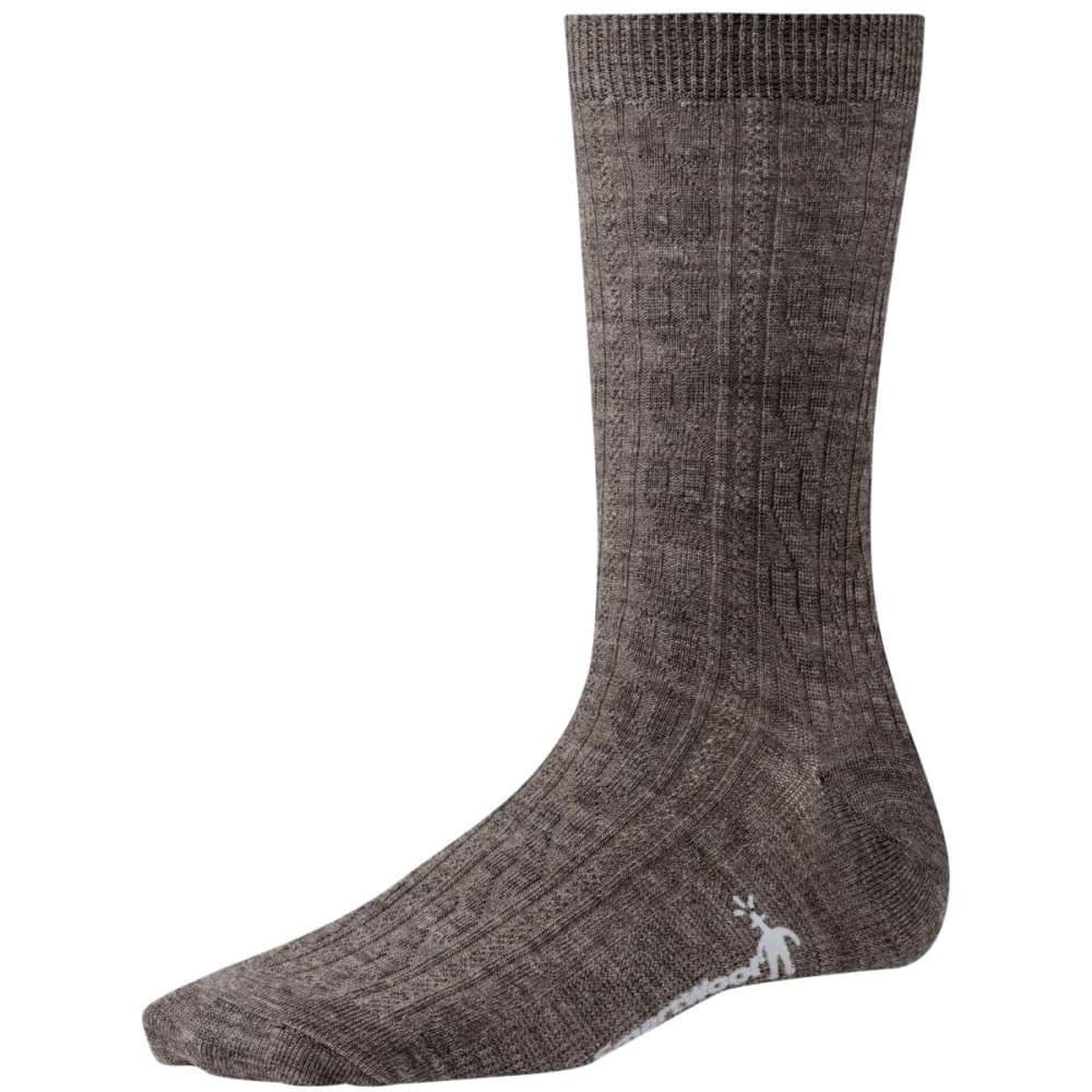 SMARTWOOL Women's Cable II Crew Socks - TAUPE 929