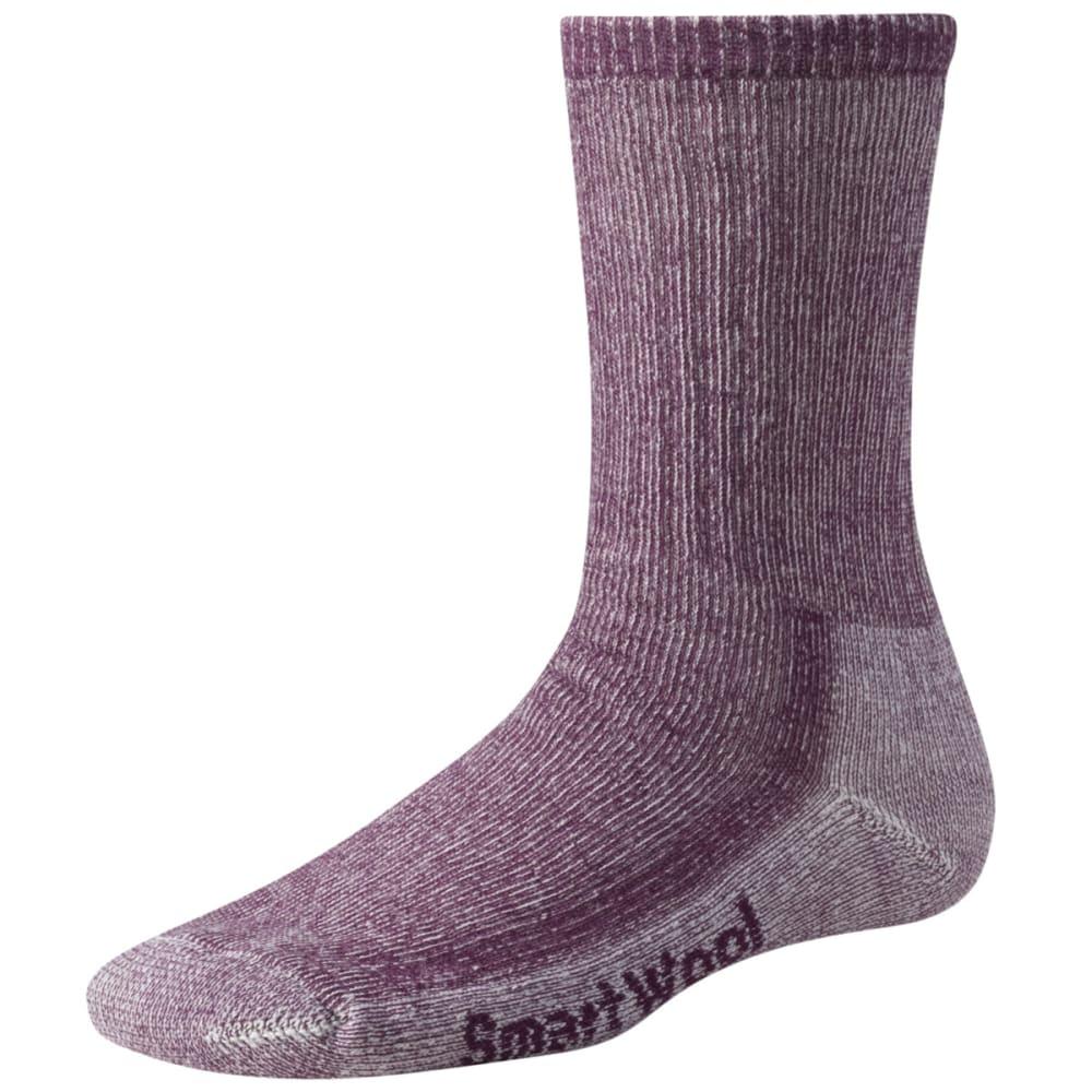 SMARTWOOL Women's Midweight Crew Socks - DARK CASSIS