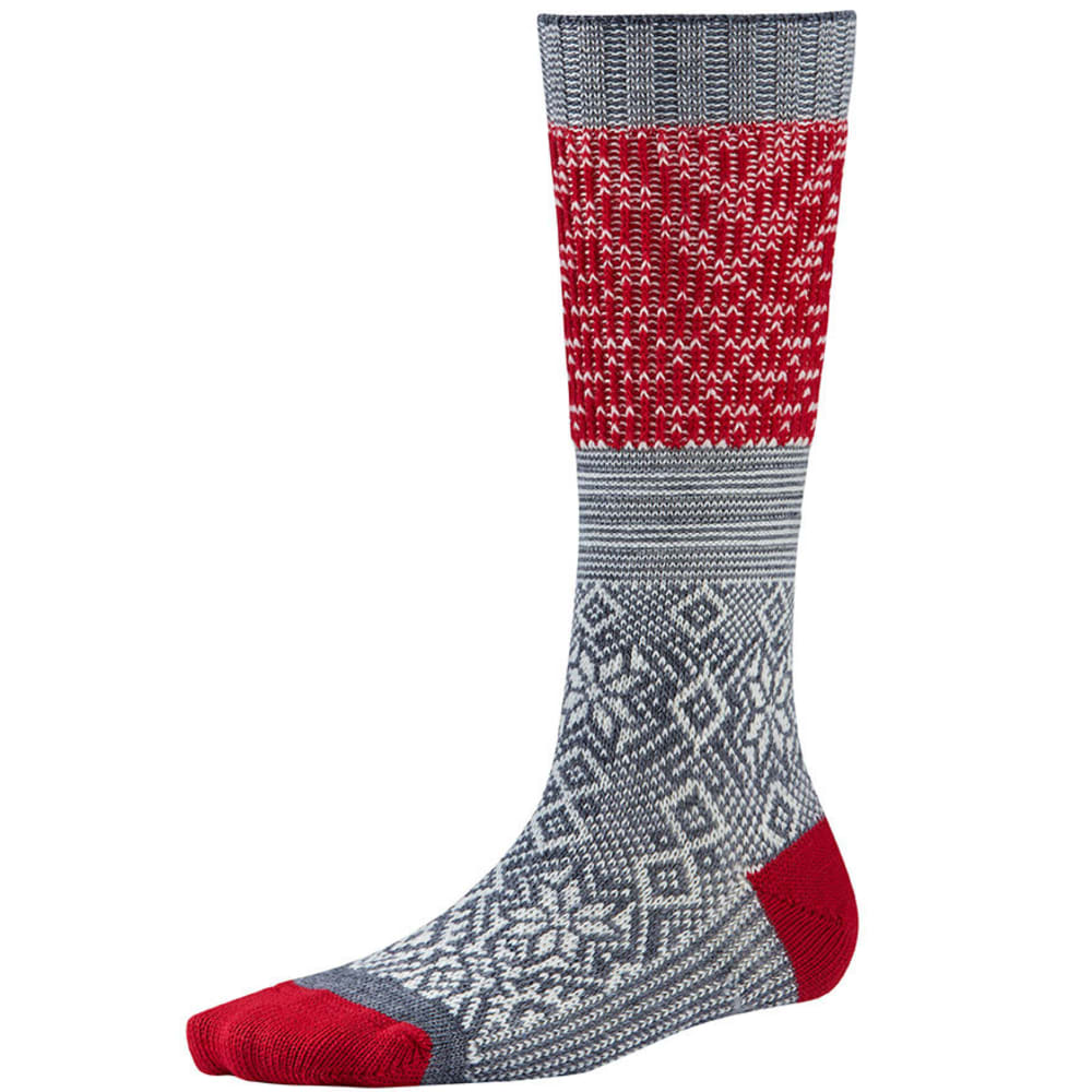 SMARTWOOL Snowflake Flurry Socks - MEDIUM GREY HEATHER