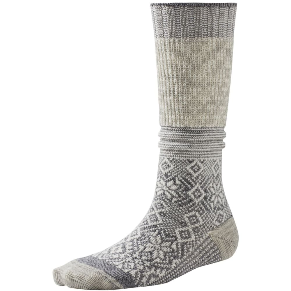 SMARTWOOL Snowflake Flurry Socks - NATURAL HEATHER