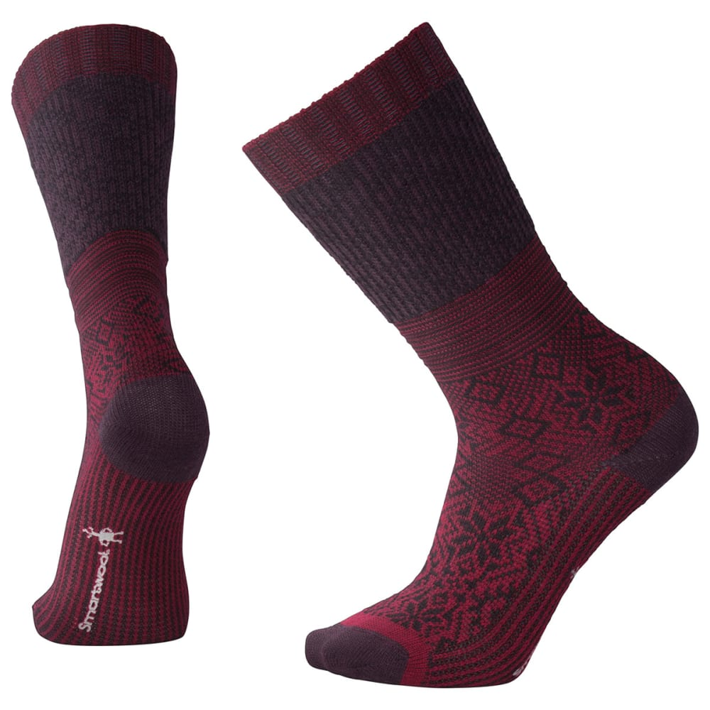 SMARTWOOL Snowflake Flurry Socks - A14-TIBETAN RED