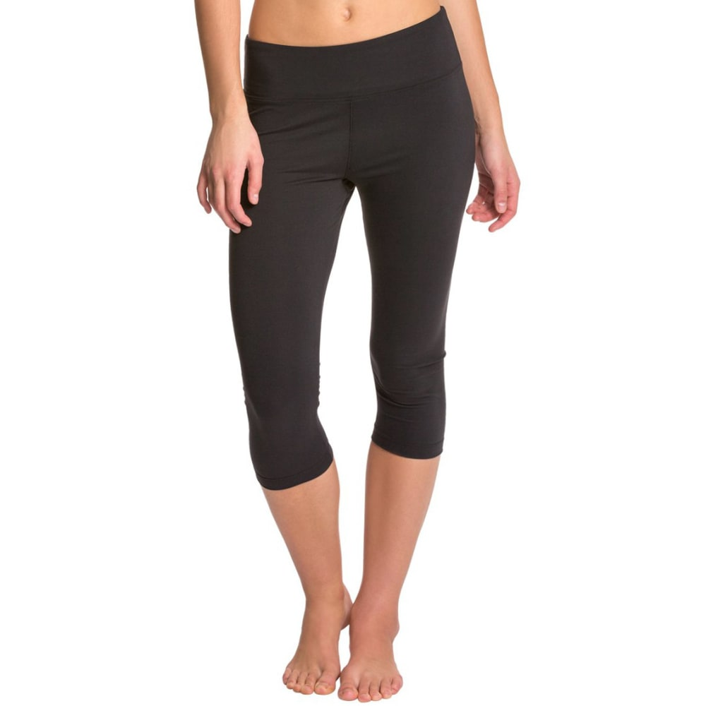 Marika Womens Balance Collection Flat Waist Capri Legging - Black B5354-01