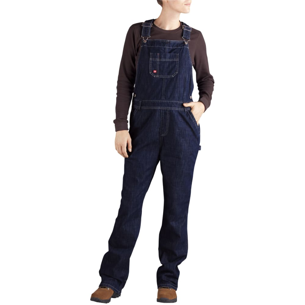 DICKIES Women's Relaxed Fit Straight Leg Bib Overall - DK INDIGO BLACK-DIB