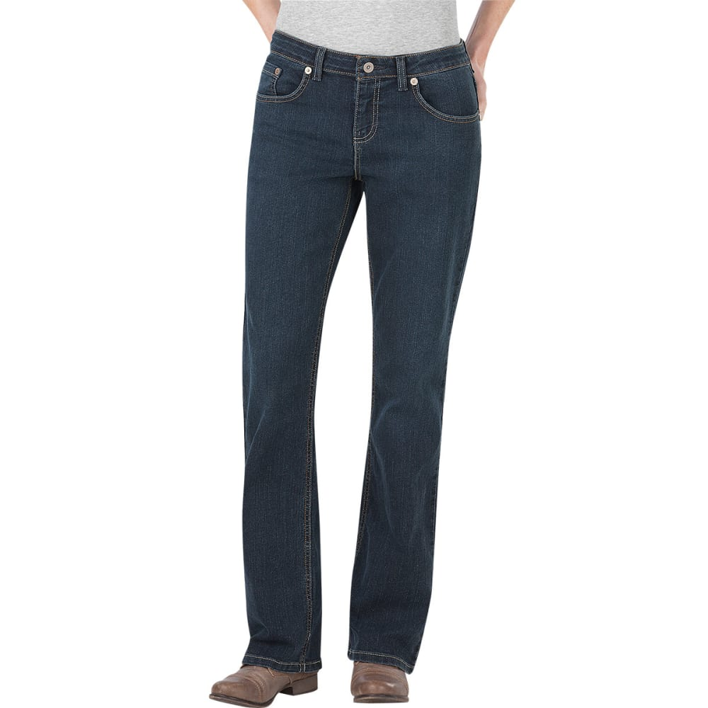 DICKIES Women's Relaxed Boot Cut Jeans - ANTIQUE DARK 1-ATD1