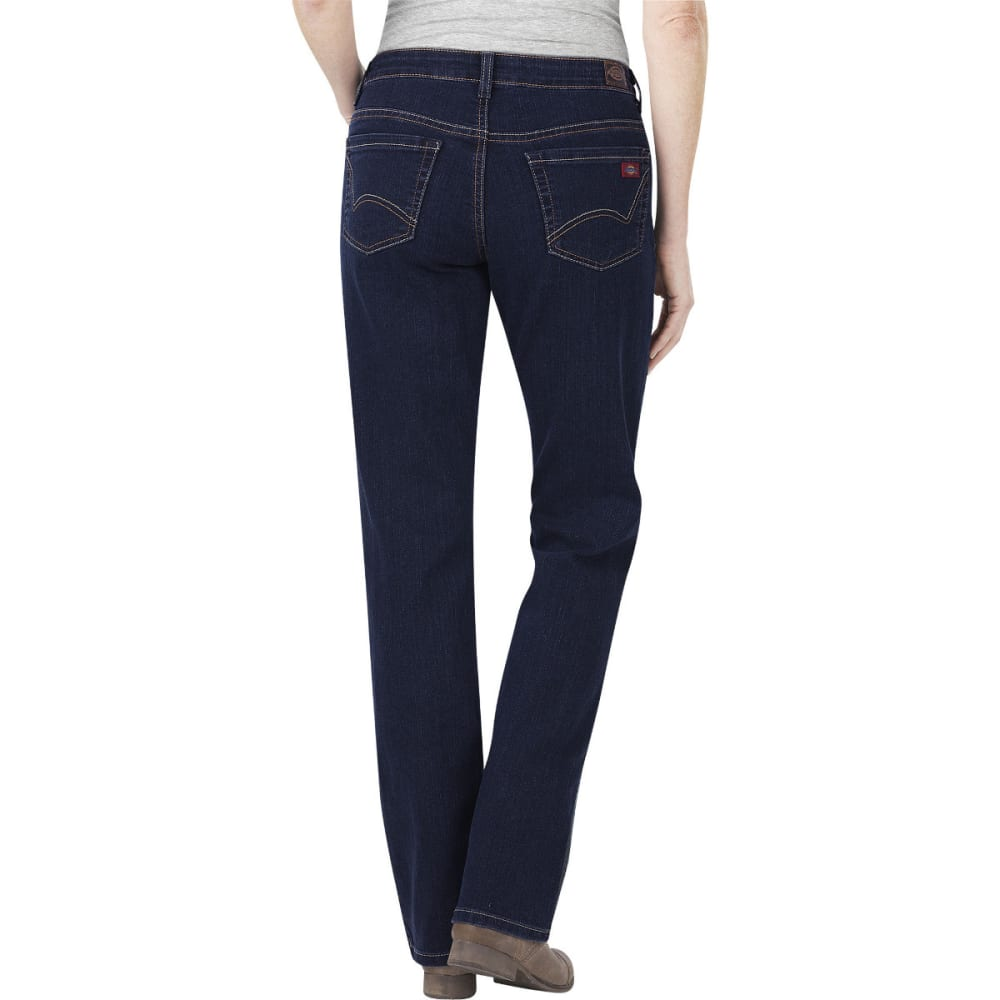 DICKIES Women's Relaxed Boot Cut Jeans - DK STONE WASH-DSW