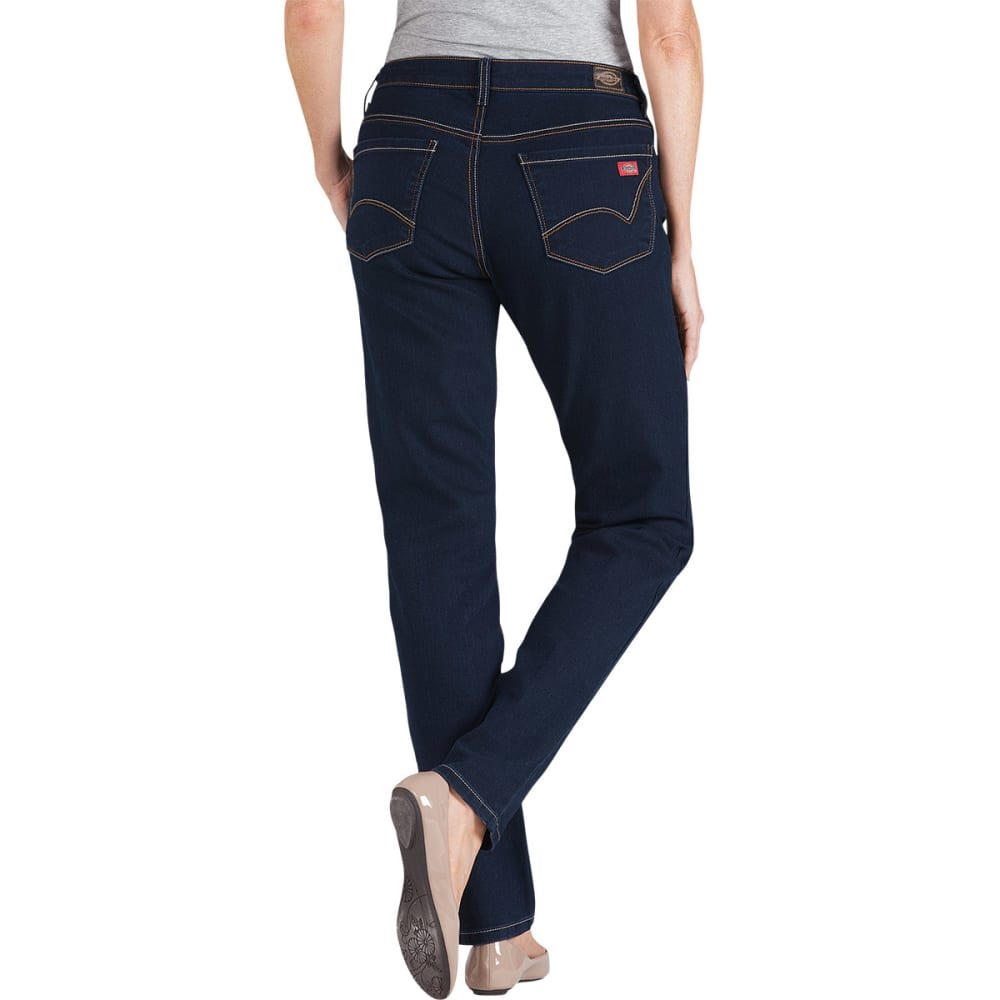 DICKIES Women's Curvy Fit Skinny Leg Jeans - DARK STONE