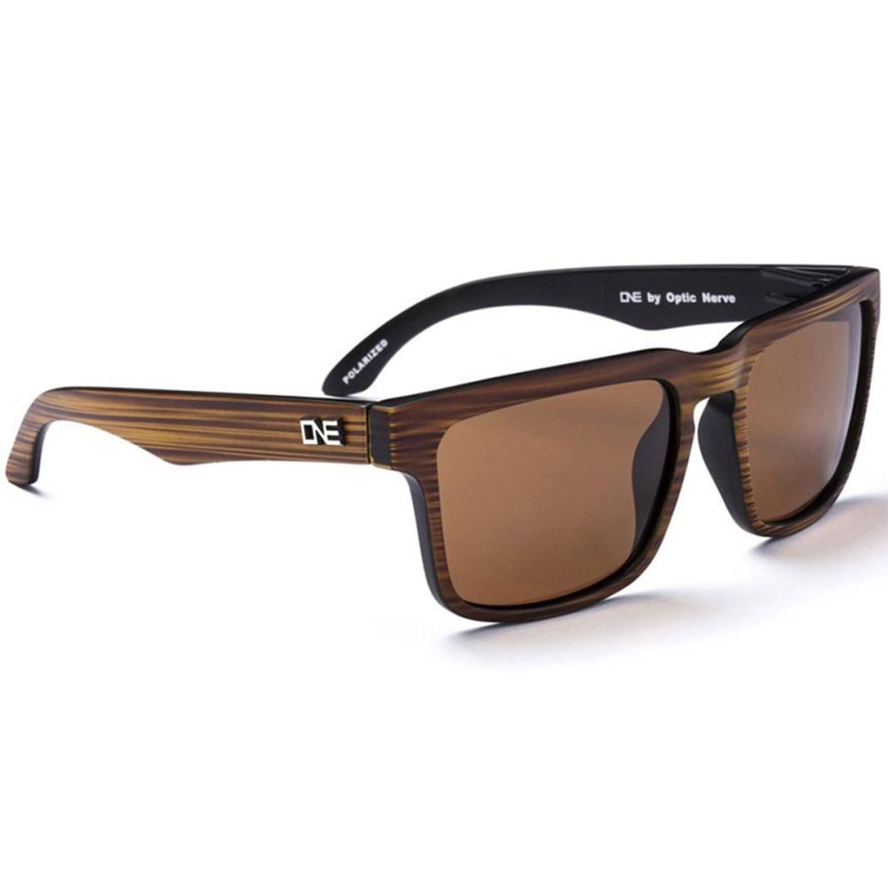 OPTIC NERVE ONE Mashup Sunglasses, Demitasse/Brown - SMOKEY BROWN/OLIVE