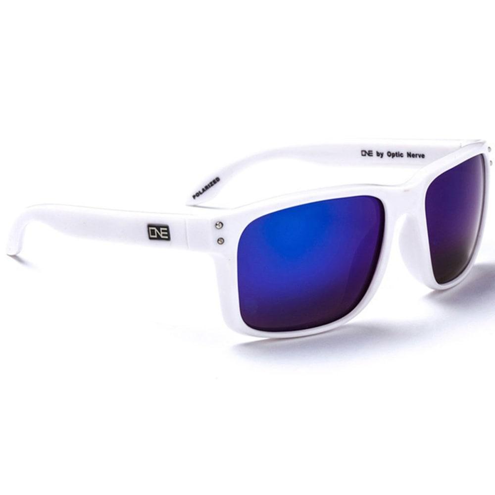 OPTIC NERVE ONE Thriller Sunglasses - WHITE/PERIWINKLE