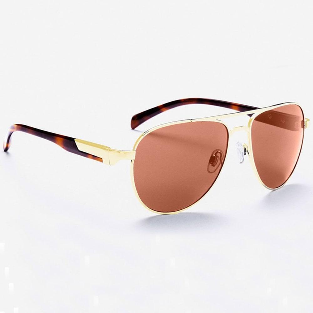 OPTIC NERVE ONE Cadet Sunglasses, Gold/Brown - GOLD