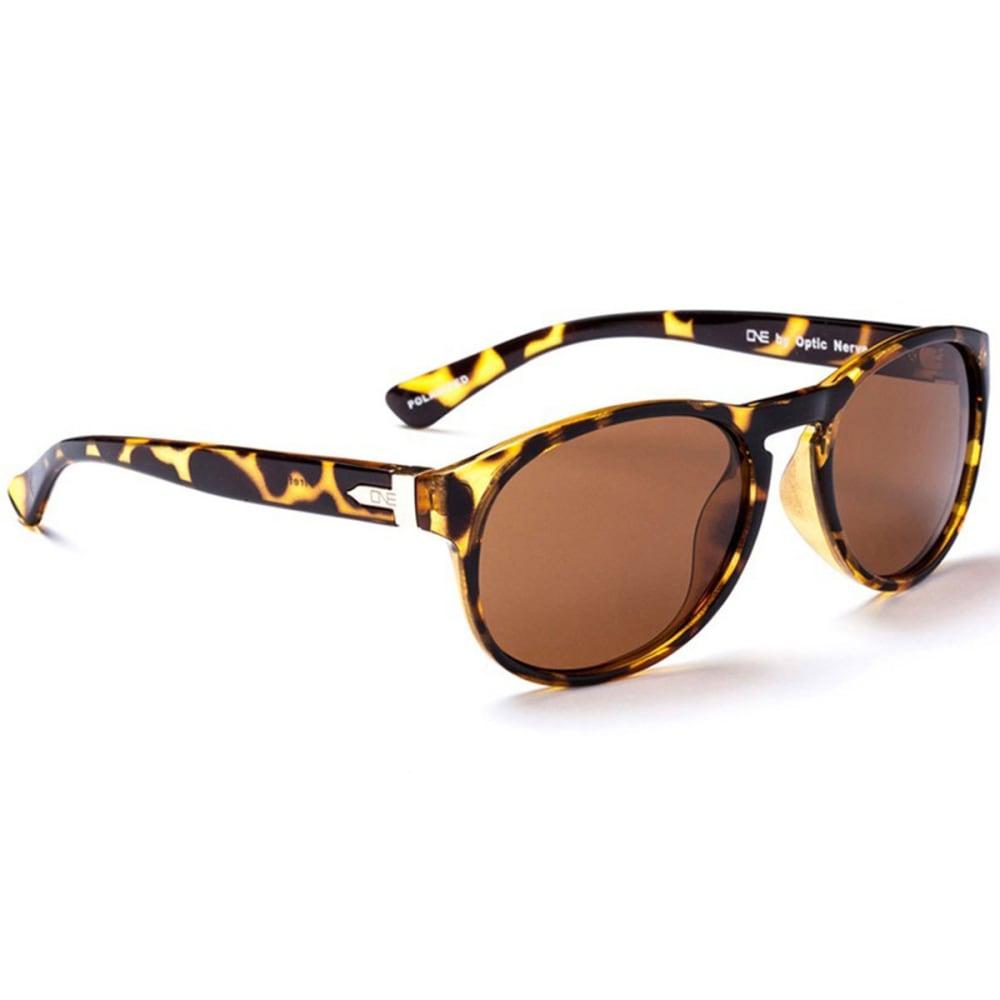 OPTIC NERVE ONE Women's Firefly Sunglasses, Demitasse/Brown - SMOKEY BROWN/OLIVE