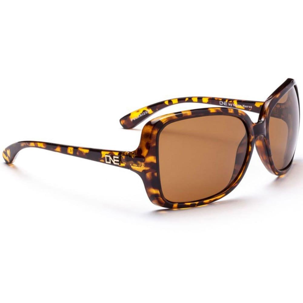 OPTIC NERVE ONE Women's Aphrodite Sunglasses, Honey/Brown - SMOKEY BROWN/OLIVE