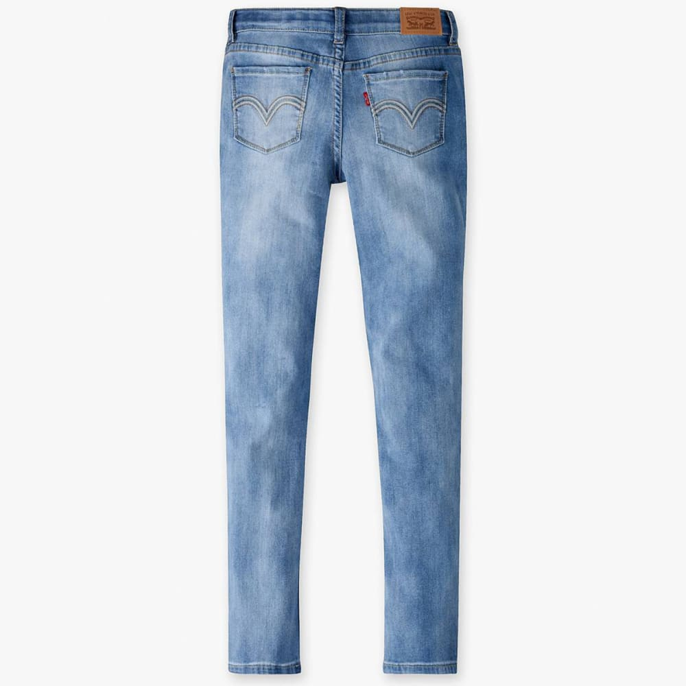 LEVI'S Big Girls' 711 Skinny Jeans - BLEACH OUT-L1U
