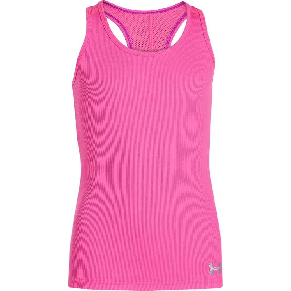 UNDER ARMOUR Girls' Victory Tank - KNOCKOUT PINK
