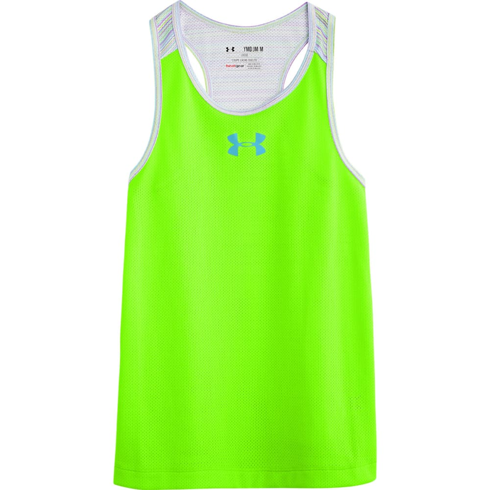 UNDER ARMOUR Girls' Party In The Back Pinney Tank - LIME