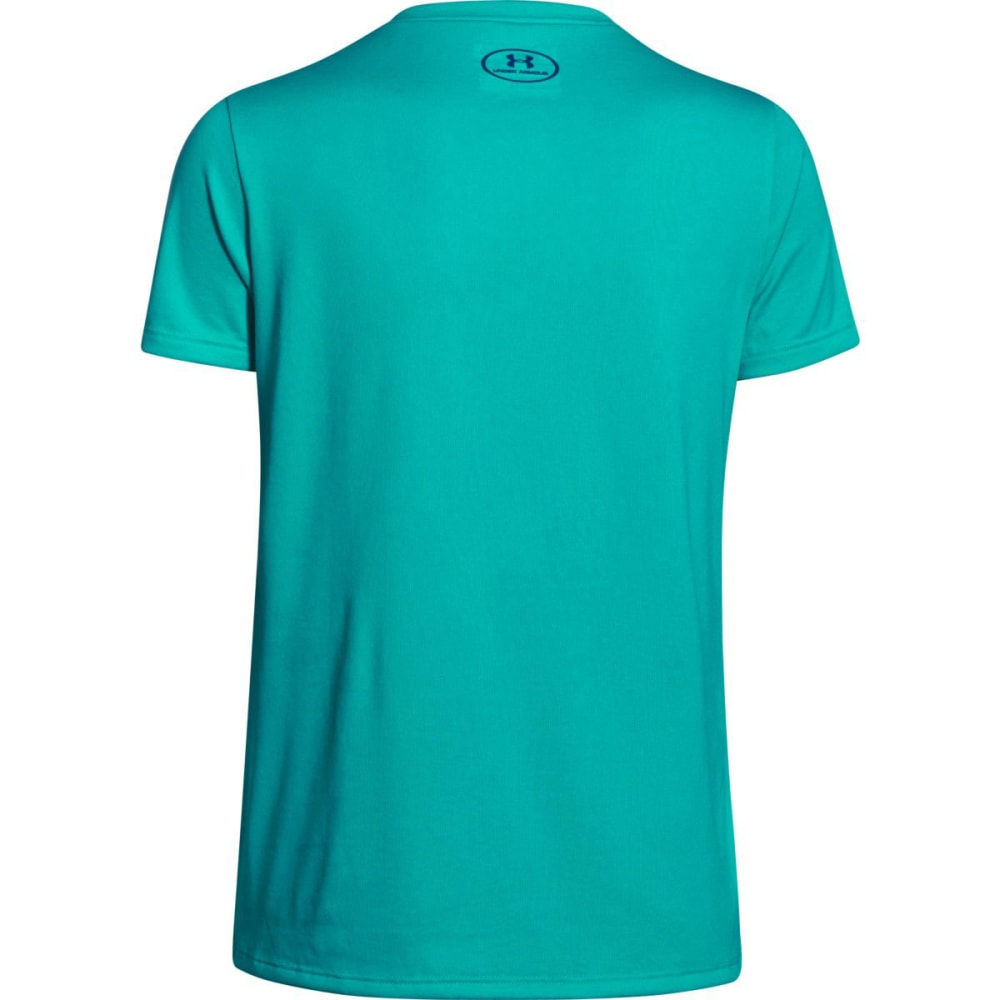 Under Armour Girl's  UA Big Logo SS Tee - GREEN
