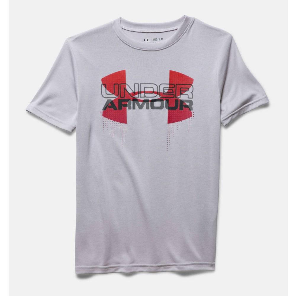 Under Armour Boys' Short-Sleeve  Big Logo Hybrid Tee - Black 1272006