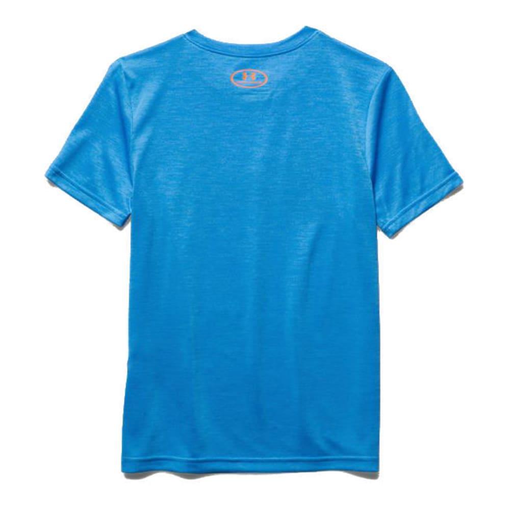 UNDER ARMOUR Boys' Short-Sleeve  Big Logo Hybrid Tee - ELECTRIC BLUE