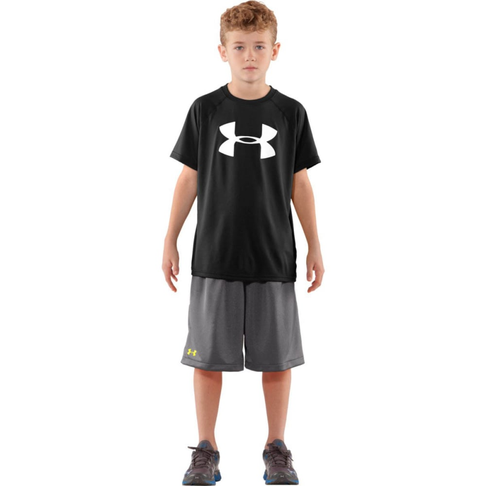 UNDER ARMOUR Boys' UA Tech Big Logo Tee - BLACK