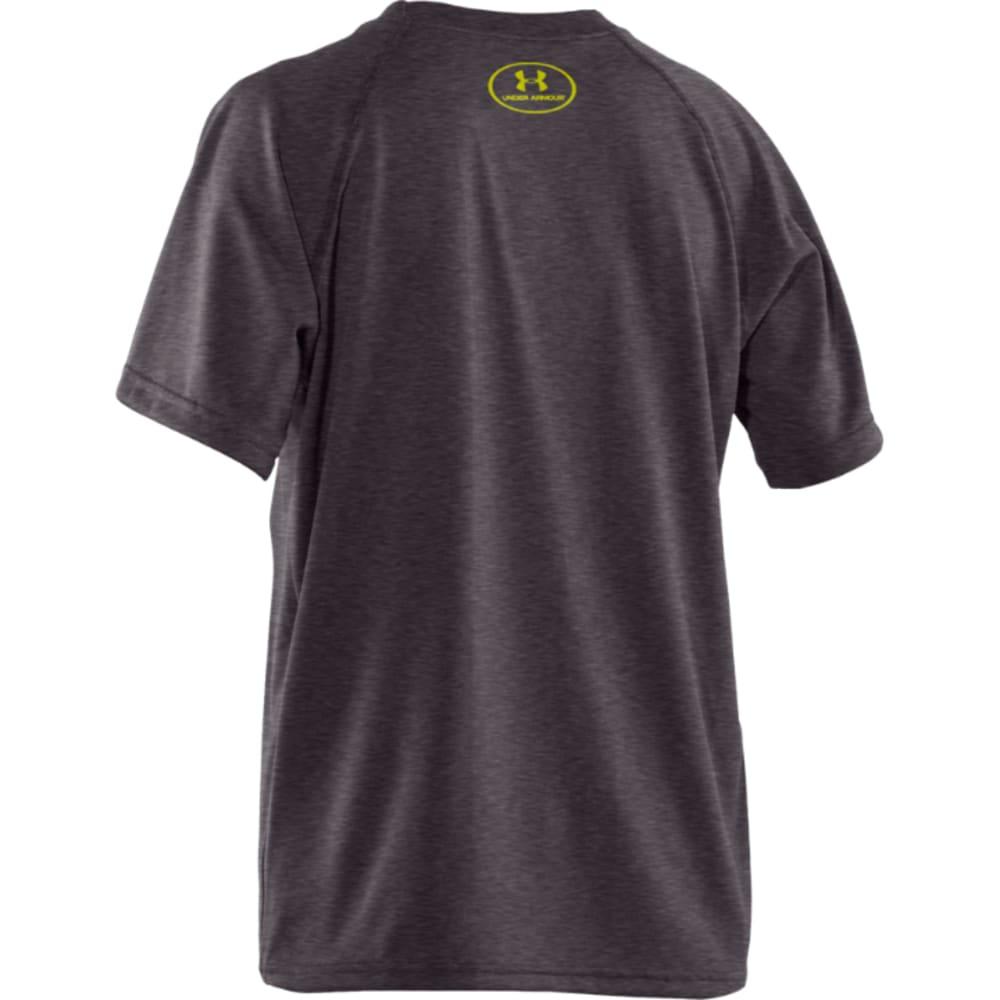 UNDER ARMOUR Boys' UA Tech Big Logo Tee - CHARCOAL