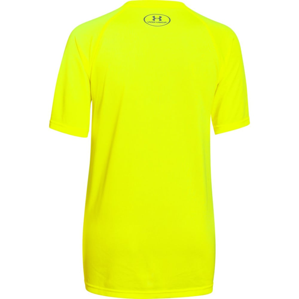 UNDER ARMOUR Boys' UA Tech Big Logo Tee - HI VIS YELLOW/GRAPHI