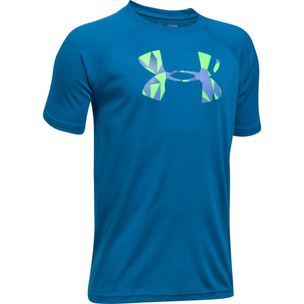 Under Armour Boys' Ua Tech Big Logo Tee - Blue 1228803