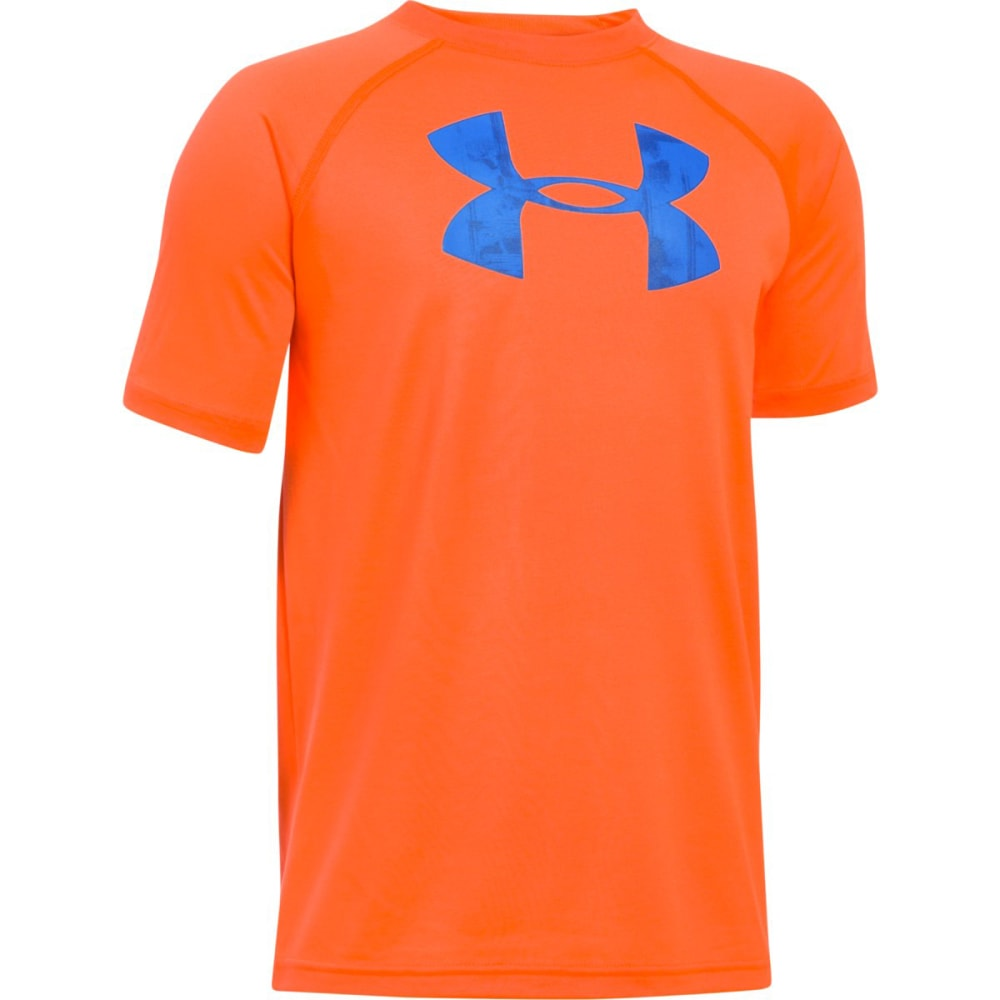 Under Armour Boys' Ua Tech Big Logo Tee - Orange 1228803