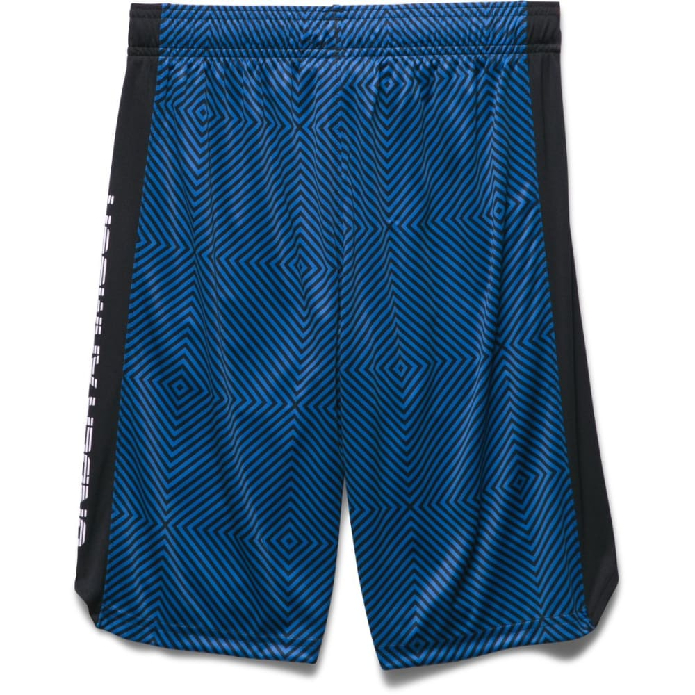UNDER ARMOUR Boys' Eliminator Printed Shorts - HORIZON BLUE