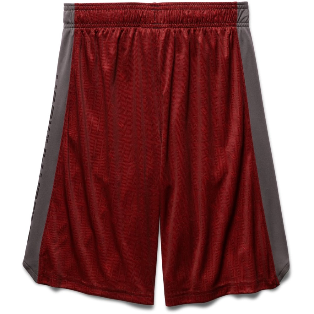 UNDER ARMOUR Boys' Eliminator Printed Shorts - RED