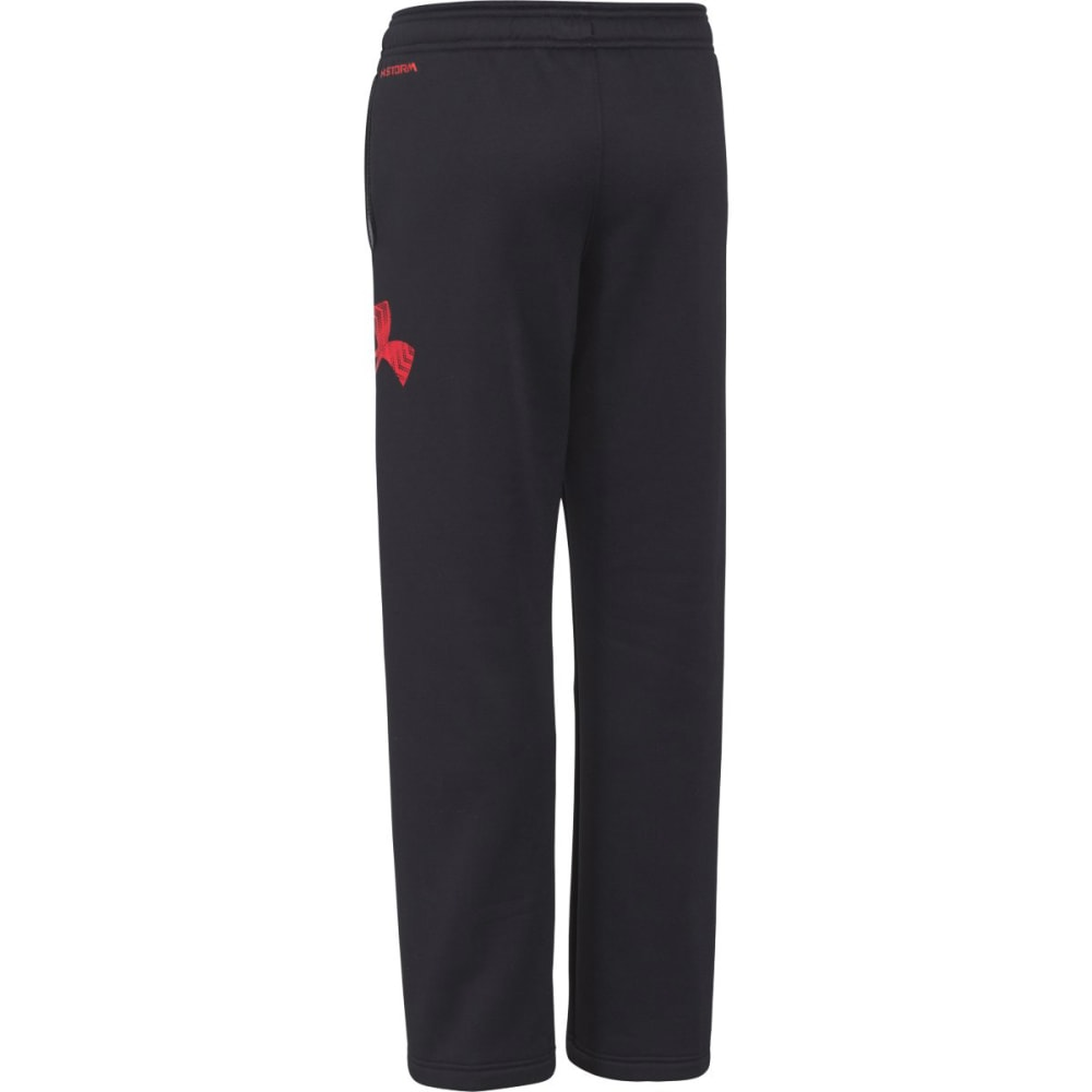 UNDER ARMOUR Boy's Storm Armour® Fleece Big Logo Pants - BLACK