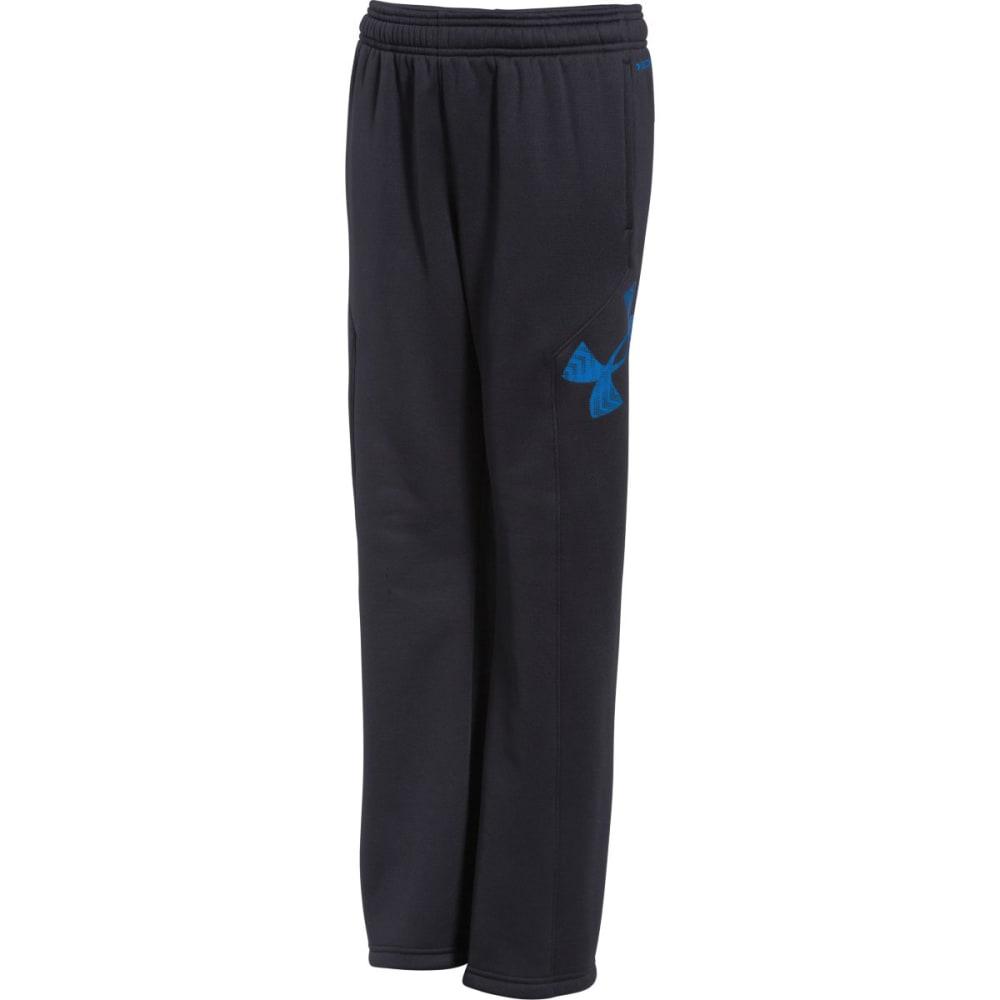 UNDER ARMOUR Boy's Storm Armour® Fleece Big Logo Pants - BLACK/BLUE