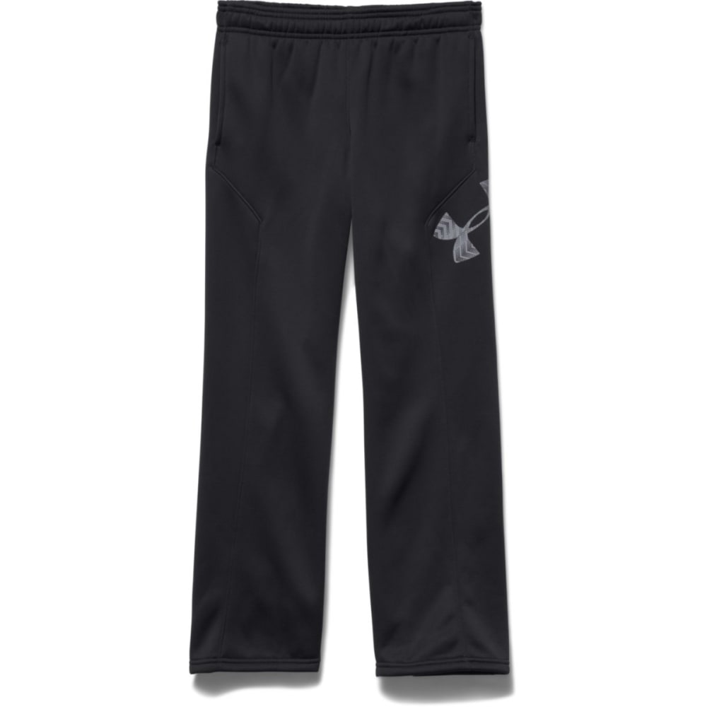 UNDER ARMOUR Boy's Storm Armour® Fleece Big Logo Pants - BLACK/STEEL-006