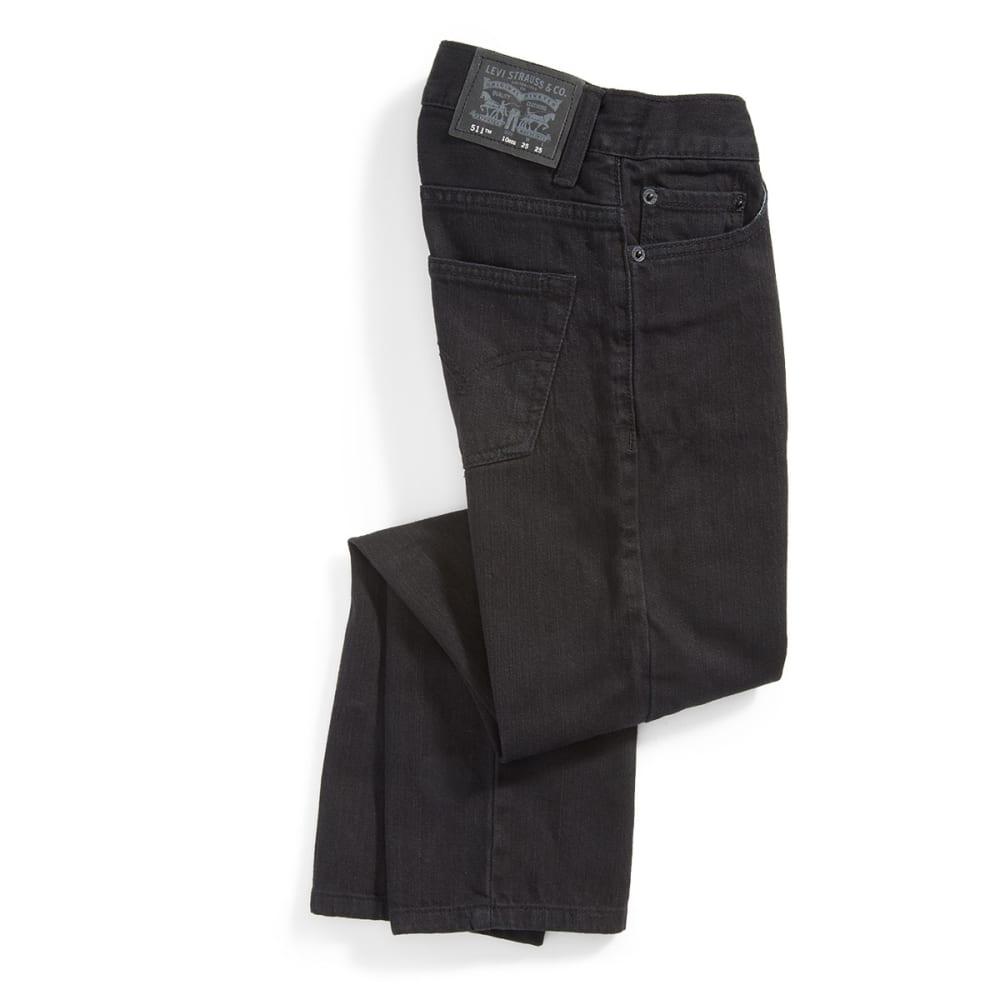 LEVI'S Boy's 511 Slim Fit Jeans - BLACK STRETCH-508