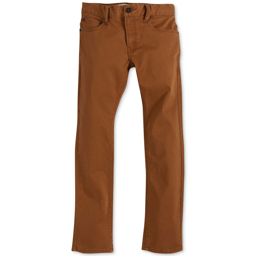LEVI'S Boys' Slim Fit Sueded Pants - RUBBER-X43
