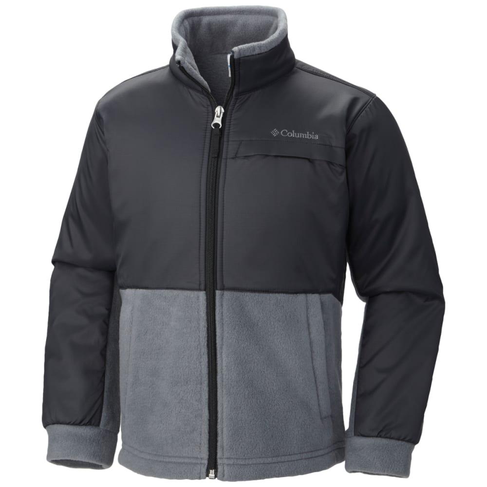 COLUMBIA Boys' Steens Mountain Overlay Fleece - 011-BLACK/GRAPHITE