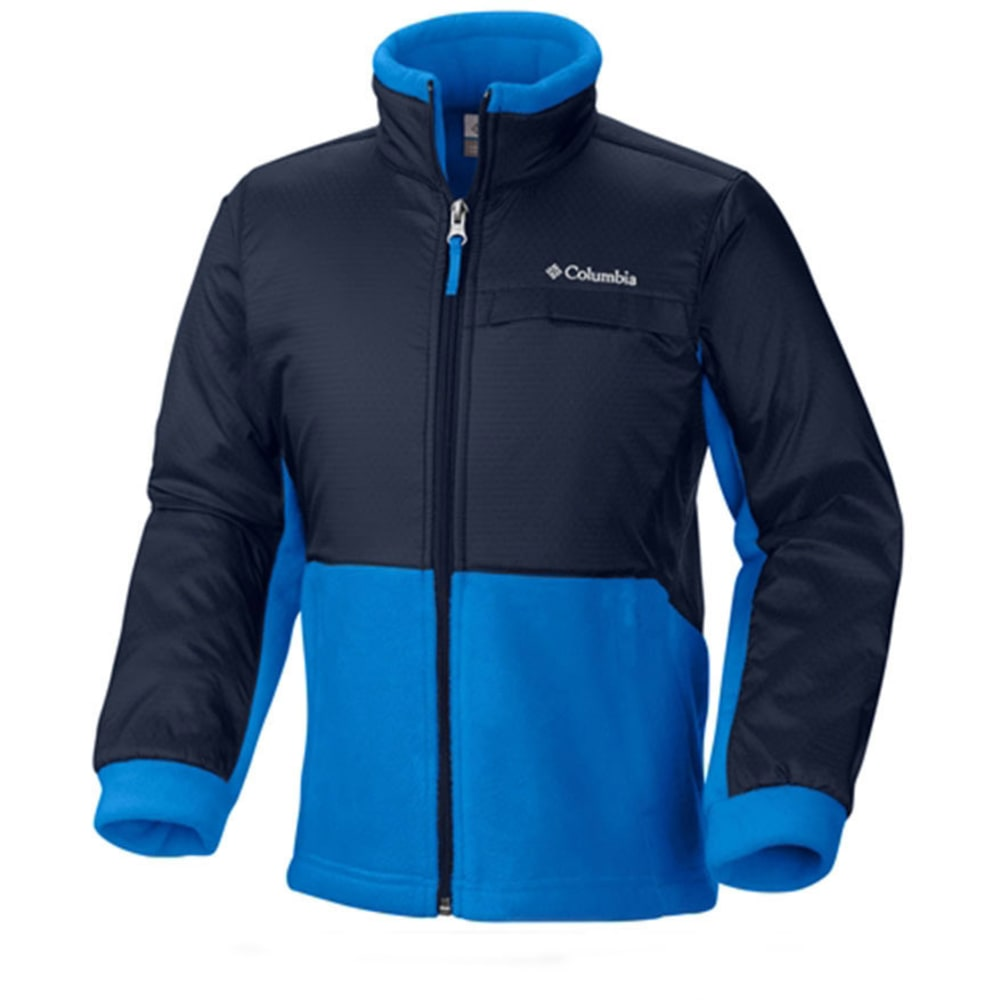 COLUMBIA Boys' Steens Mountain Overlay Fleece - HYPER BLUE