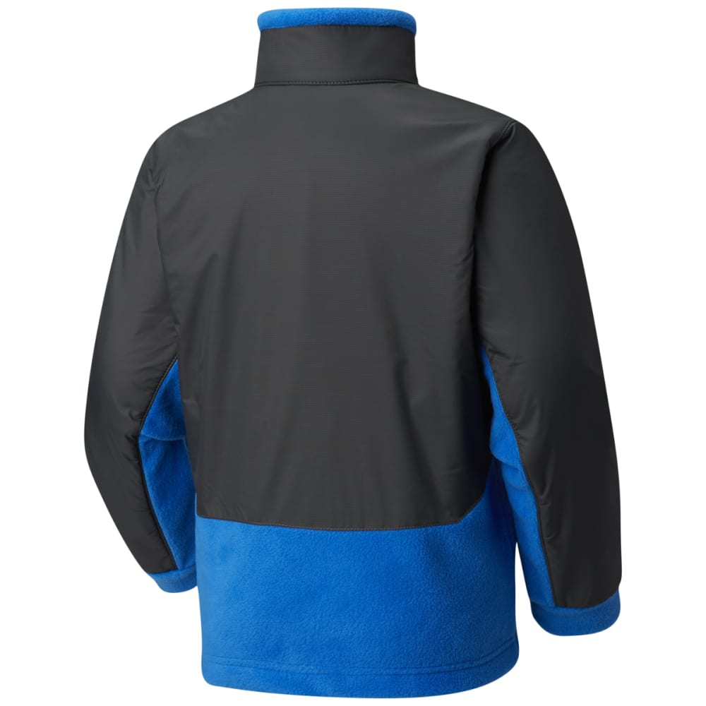 COLUMBIA Boys' Steens Mountain Overlay Fleece - SUPERBLUE/GRILL-439