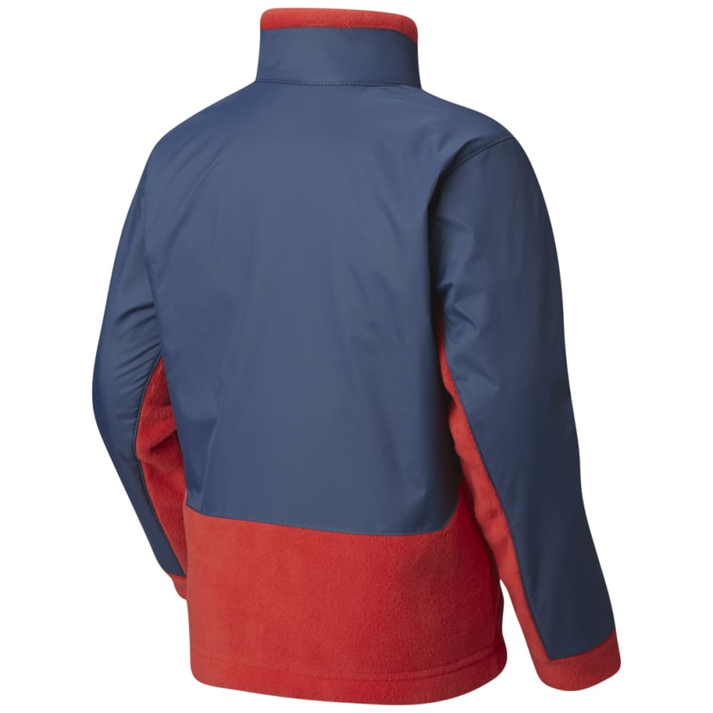 COLUMBIA Boys' Steens Mountain Overlay Fleece - RED SPARK-696