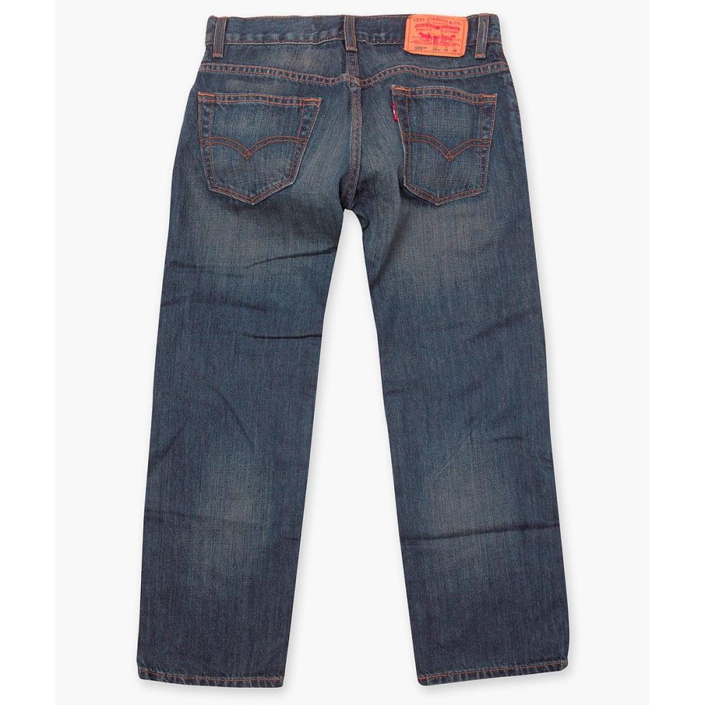 LEVI'S Big Boys' 505 Husky Straight Fit Jeans - ROADIE-778