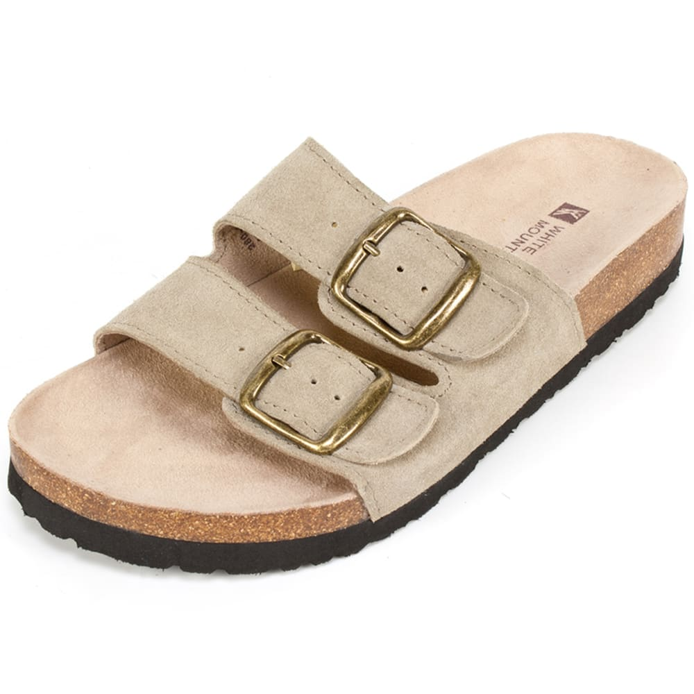 WHITE MOUNTAIN Women's Helga Double-Buckle Sandals - TAUPE-926