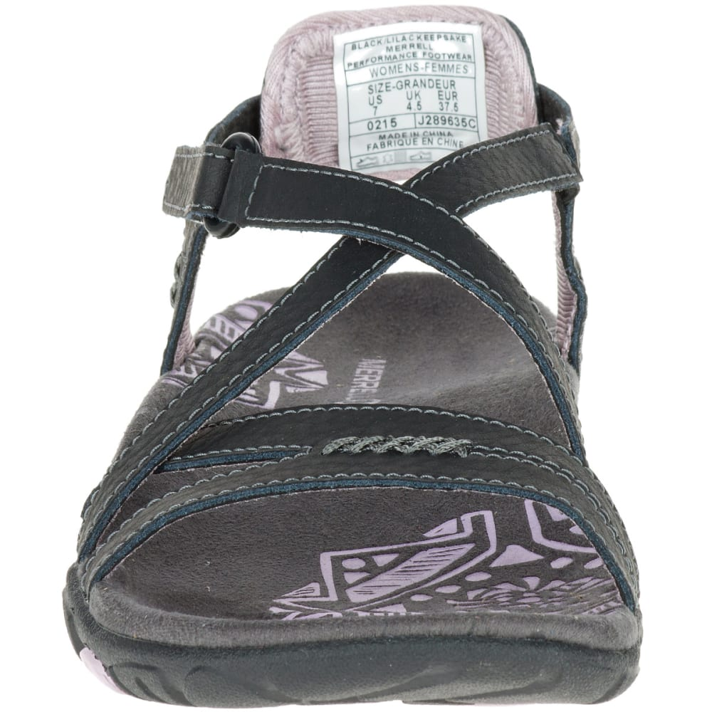 8bda62d03a58 MERRELL Women  39 s Sandspur Rose Leather Sandals - BLACK LILAC