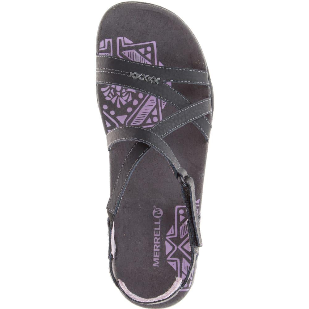 2269a59c7e41d4 MERRELL Women  39 s Sandspur Rose Leather Sandals - BLACK LILAC