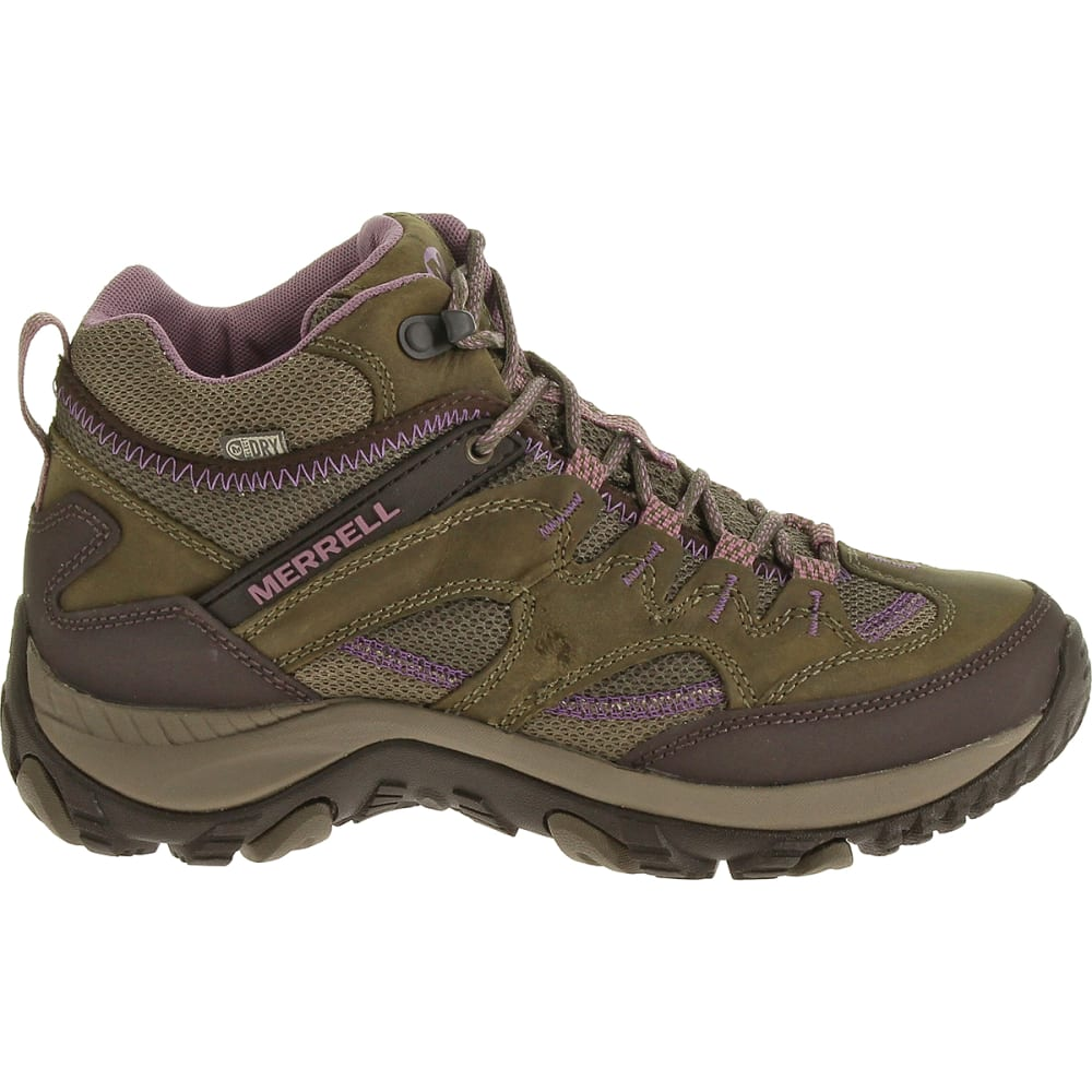 MERRELL Women's Salida Mid Waterproof Hiking Boots - BRINDLE