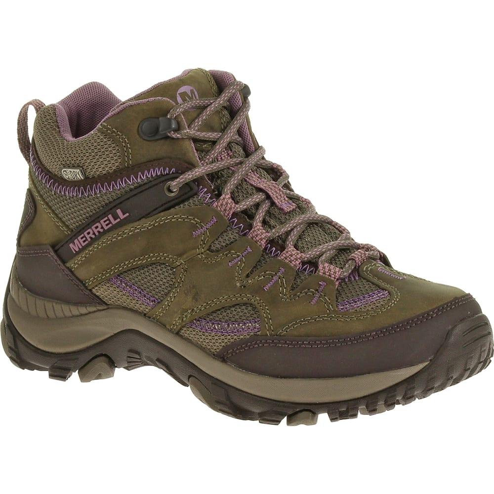 MERRELL Women's Salida Mid Waterproof Hiking Boots - BRINDLE