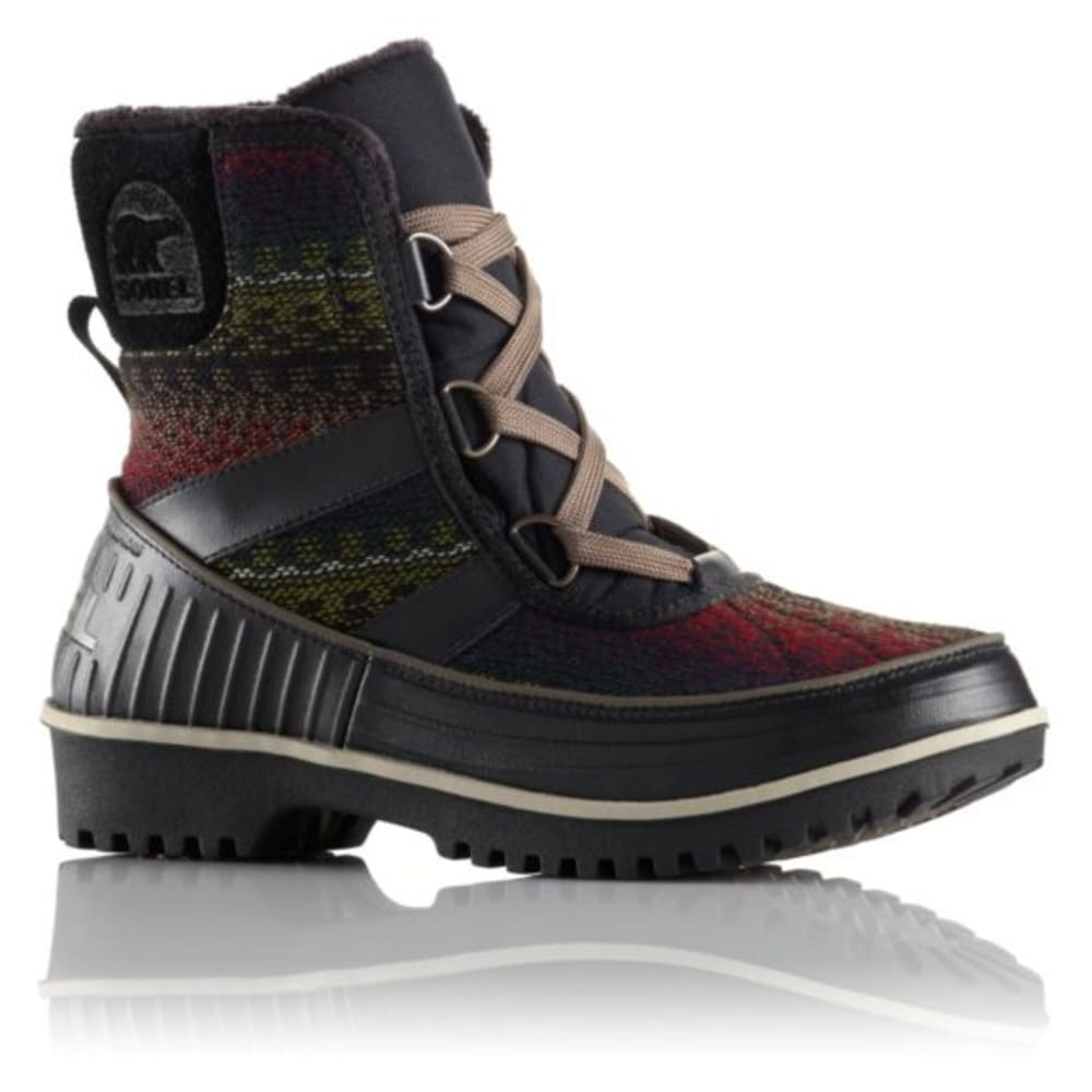 SOREL Women's Tivoli II Winter Boots - BLACK PTRND