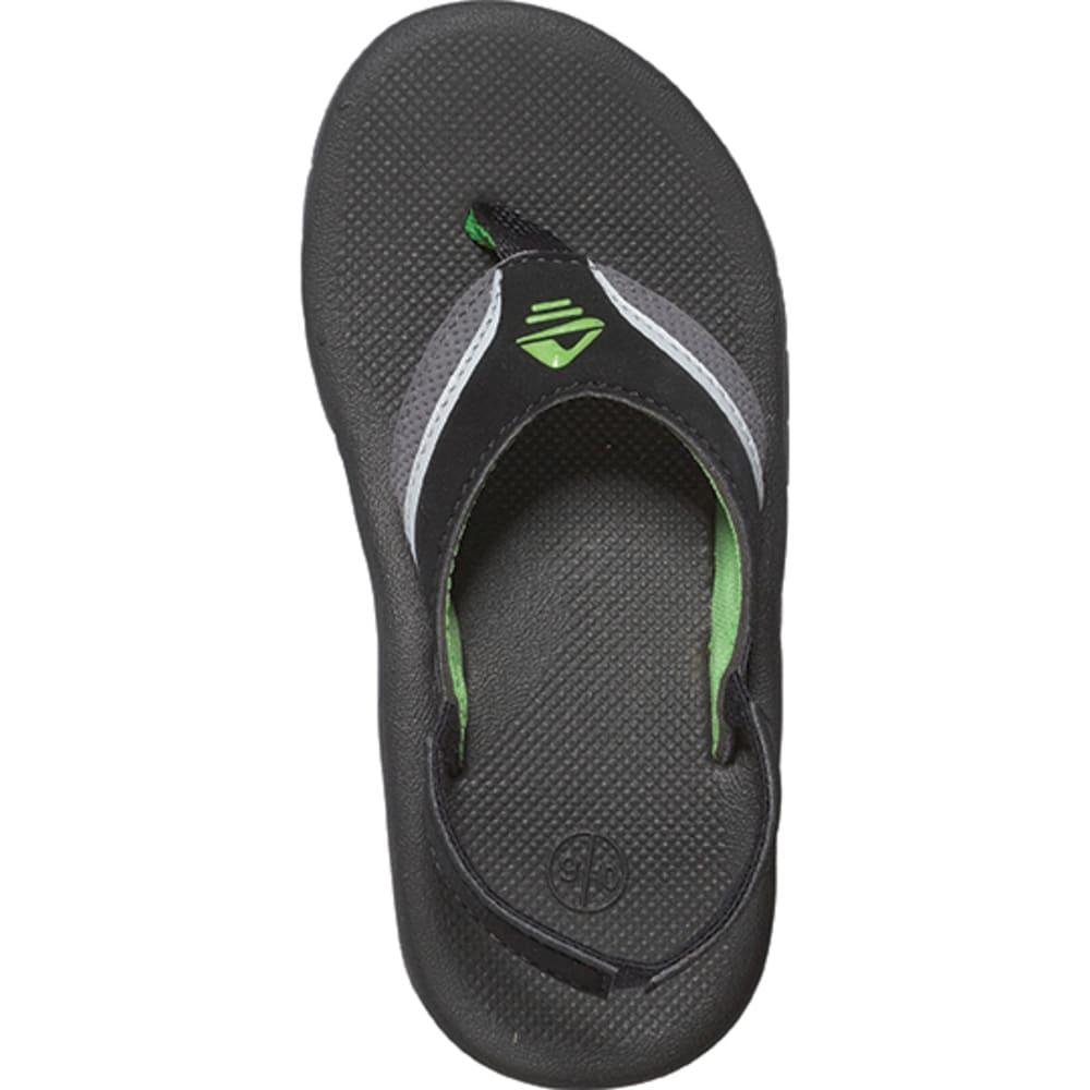 REEF Boys' Slap II Flip-Flops, Black/Green - BLACK