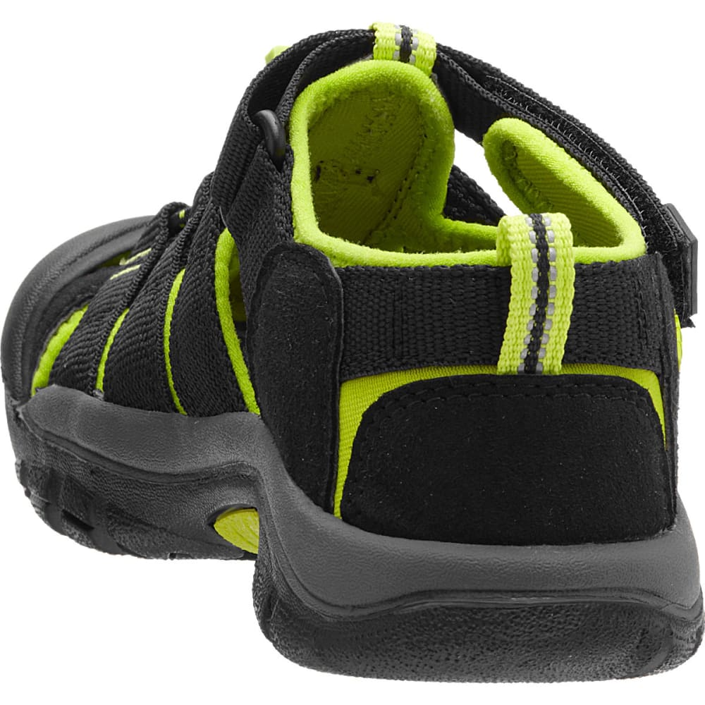 5820f85ccea KEEN Youth Newport H2 Sandals, Black/Lime Green - BLACK